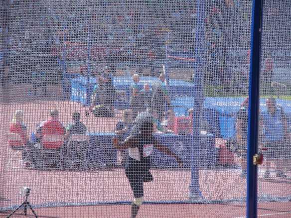 Richard Okigbazi throwing for bronze